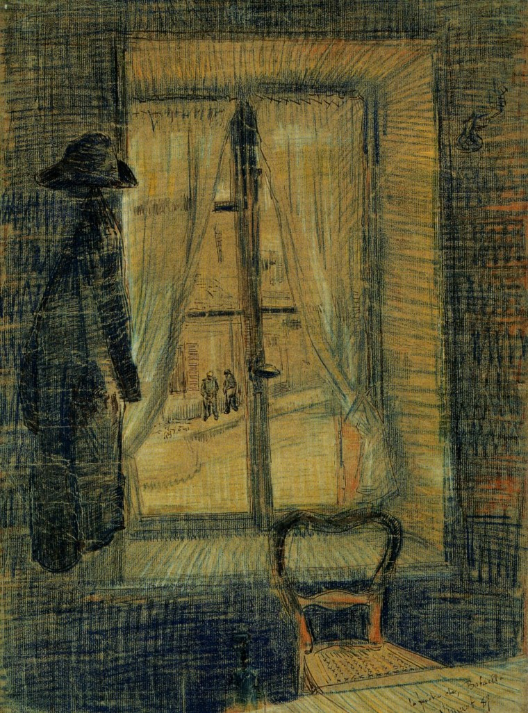 The Window In the Bataille Restaurant, by Vincent Van Gogh (1887)