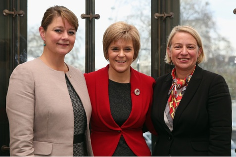 Leanne Wood, Nicola Sturgeon, and Natalie Bennett