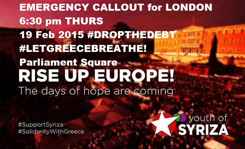 #RiseUpEurope - EMERGENCY CALL OUT - fEB 19 6:30pm PARLIAMENT SQUARE