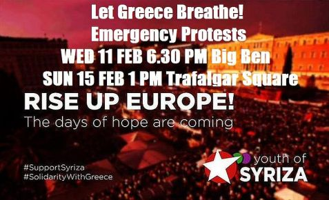 Rise Up Europe Greece Solidarity Campaign FEB 11-15